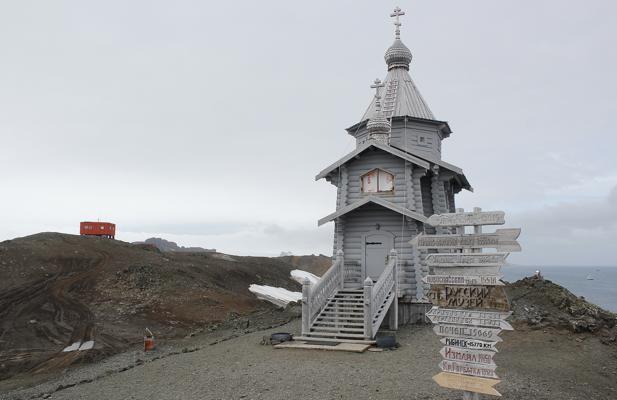 Ermita de Santa Trinidad, en la Antártida
