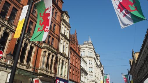Una imagen del centro de Cardiff