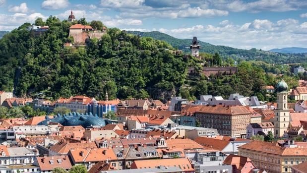 Schlossberg o Castillo de la Colina, en Graz