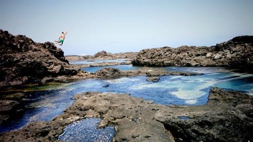 Los Charcones en la isla de Lanzarote