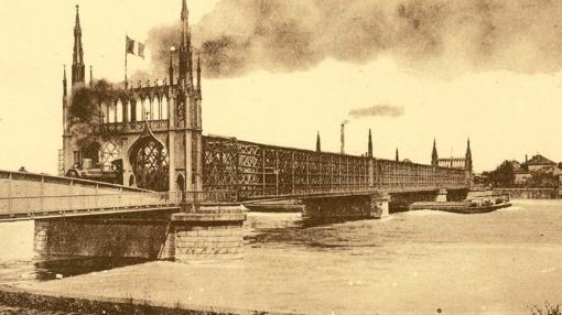 Tranvía sonre el Rhin, en 1920