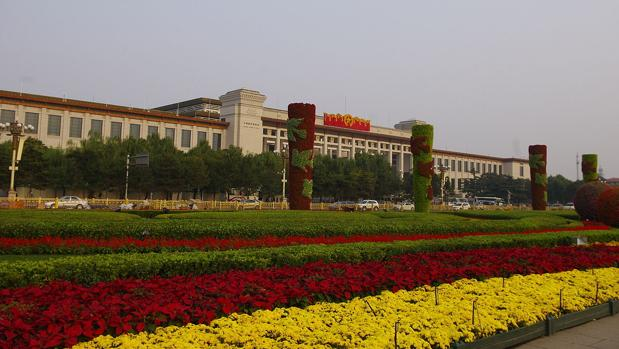 Exterior del Museo Nacional de China, en Pekín