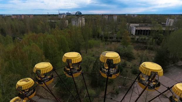La noria de la ciudad de Prípiat, símbolo de la tragedia nuclear de Chernóbil