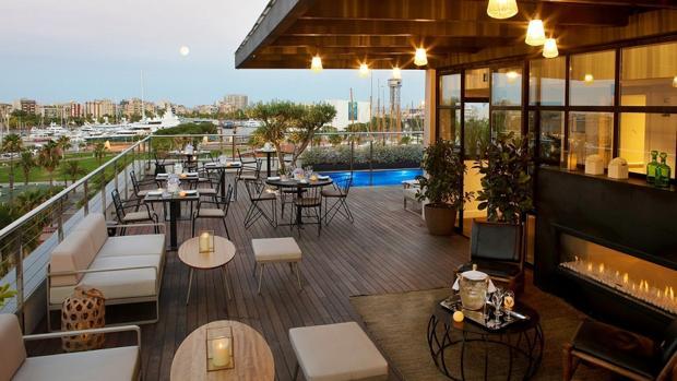 Vistas desde The Serras Hotel, en Barcelona
