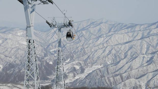 Teleférico de Masikryong, uno de los cuatro remontes con los que cuenta la estación