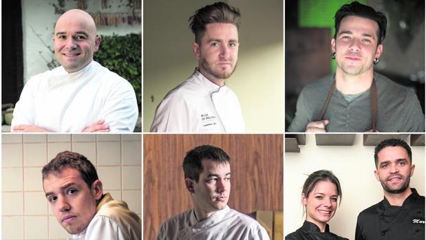 Asier Alcalde, Leandro Gil, Carlos Maldonado, Víctor Membibre, Nanín Pérez y Jenisse Pérez y Mario Rodríguez, candidatos a Cocinero Revelación 2018