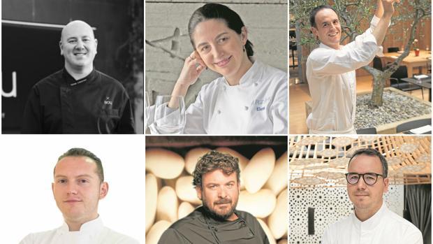 Toemu Caldentey, Elena Arzak, Íñigo Lavado, Iván Muñoz, Dani Frías y Paco Morales