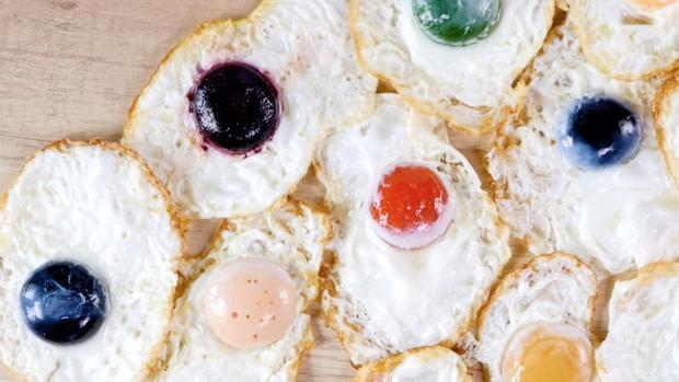 Huevos fritos creados por el equipo de Disfrutar