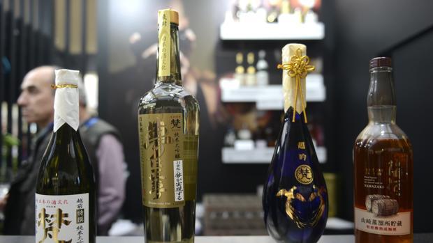 Botellas de sake japonés, en el Reale Seguros Madrid Fusión