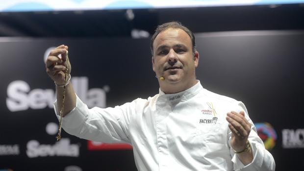Ángel León, durante su ponencia en Reale Seguros Madrid Fusión