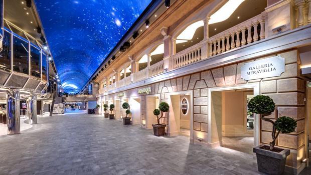 Galleria Meraviglia, en el MSC Meraviglia