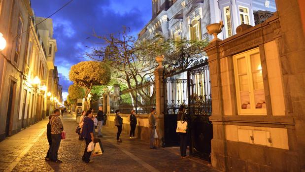 Calle Benito Pérez Galdós, en Las Palmas de Gran Canaria