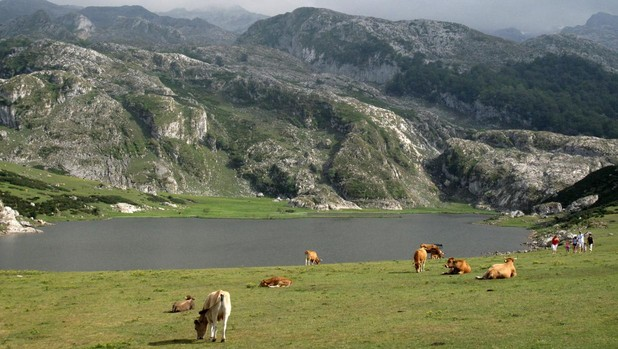Lago de Ercina, en los Picos de Europa