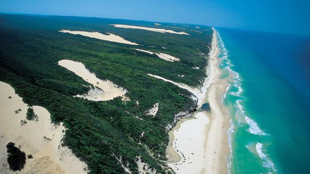 Vista aérea de Fraser Island