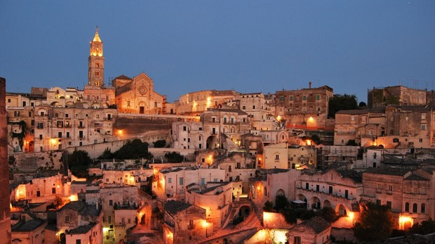 Vista de Matera, en Italia, Capital Europea de la Cultura en 2019