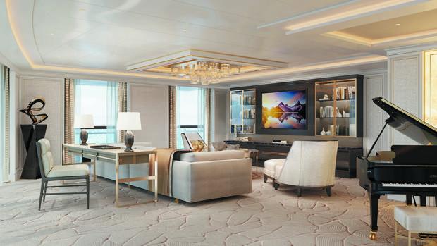 Salón de la Suite Regent de 413 metros cuadrados